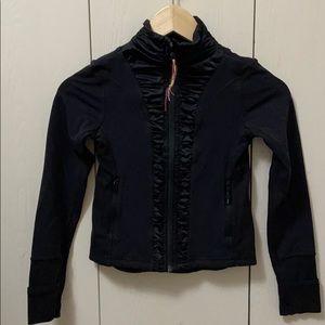 Ivivva Black Jacket/Sweater with Satiny Rouching